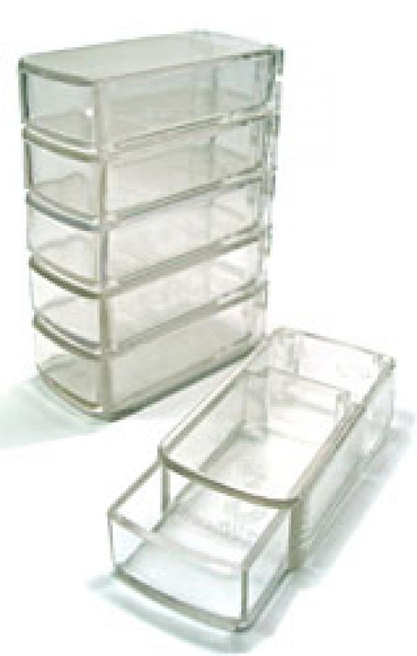 Clear Plastic Stackable Storage Boxes 6 Count
