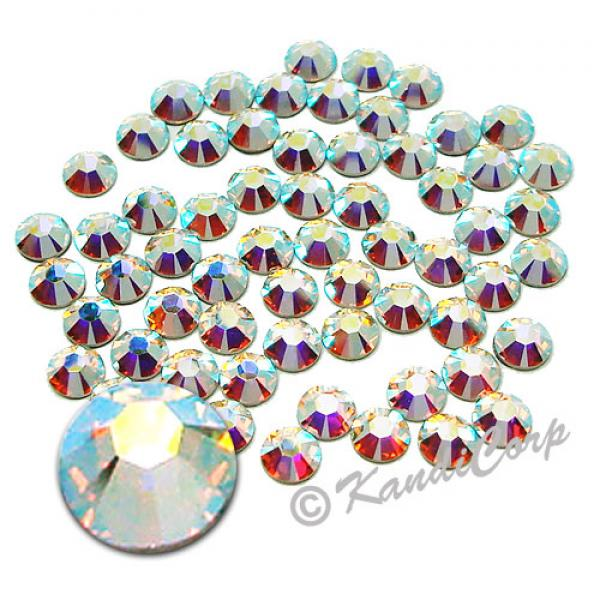 8mm 40ss  Crystal AB Swarovski 2038- Low Lead Swarovski HotFix Crystal