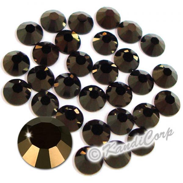 7mm 34ss Jet Nut Swarovski 2038 Low Lead Swarovski HotFix Crystals