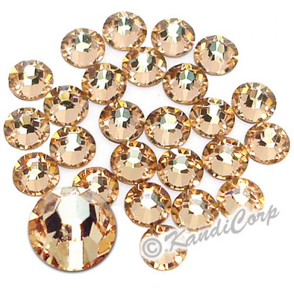 5mm 20ss Light Peach Swarovski 2038 Low Lead Swarovski HotFix Crystals