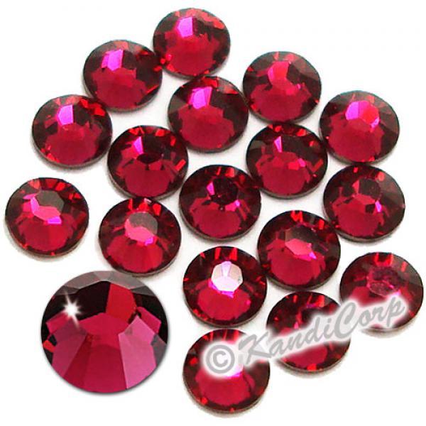 7mm 34ss Ruby Swarovski 2038- Low Lead Swarovski HotFix Crystal