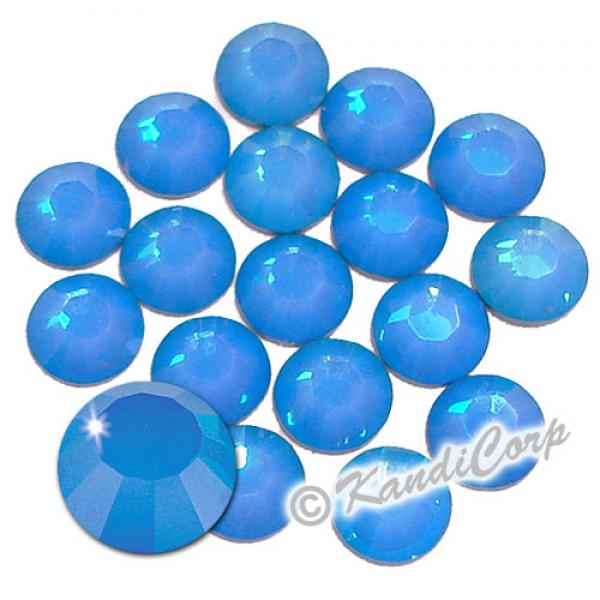 5mm White Opal Sky Blue 2028 Swarovski HotFix Crystals
