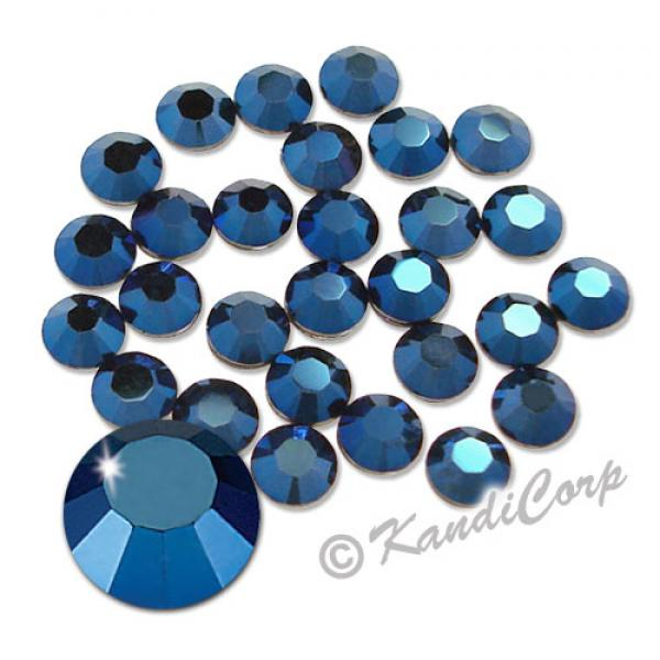 7mm 34ss Crystal Metallic Blue Swarovski 2038- Swarovski HotFix Crysta