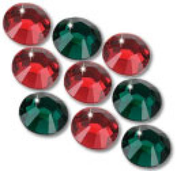 3mm 10ss Holiday Mix CraftSafe HotFix Crystals