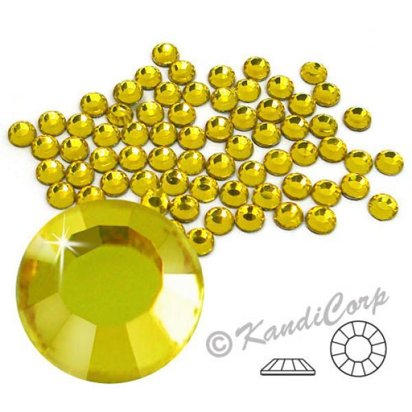 4mm 16ss Citrine CraftSafe HotFix Crystals