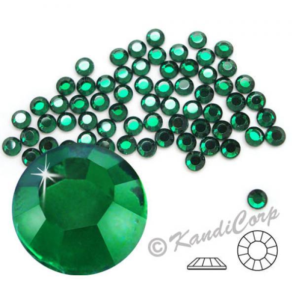 4mm 16ss Emerald CraftSafe HotFix Crystals