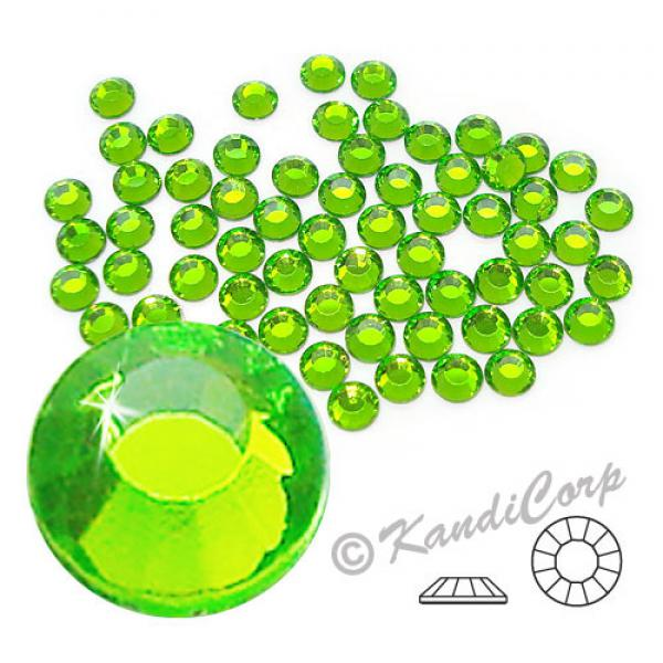 4mm 16ss Peridot CraftSafe HotFix Crystals