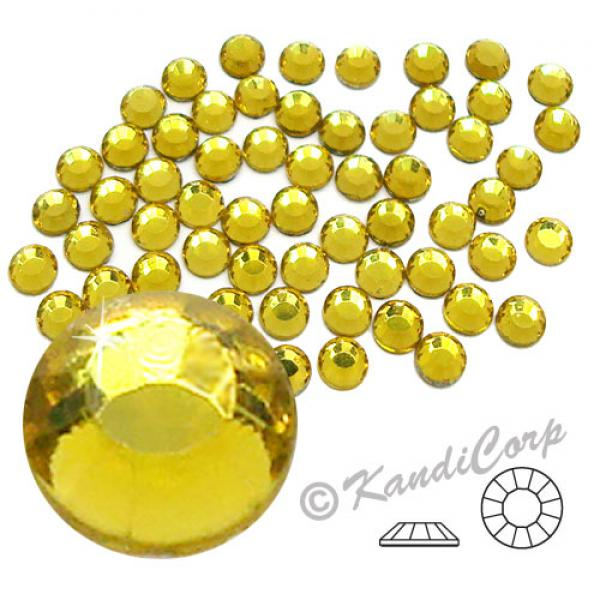 4mm 16ss Light Topaz CraftSafe HotFix Crystals