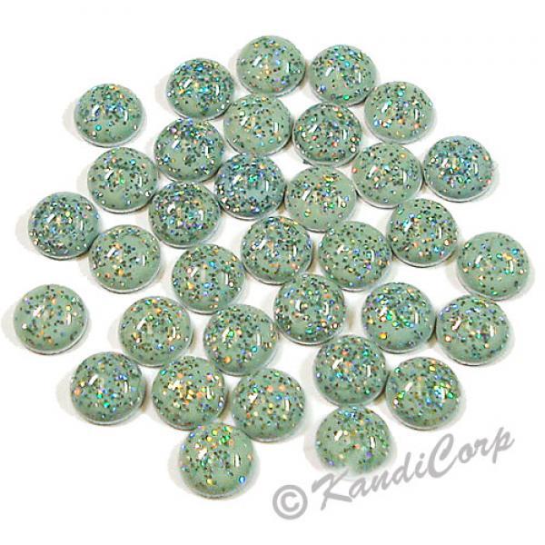 3mm Light Blue Glitter HotFix Pearlstuds