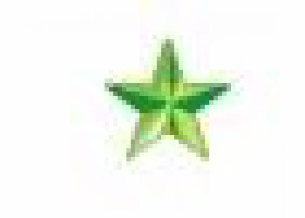 Star 10 mm Brt Green HotFix Nailheads