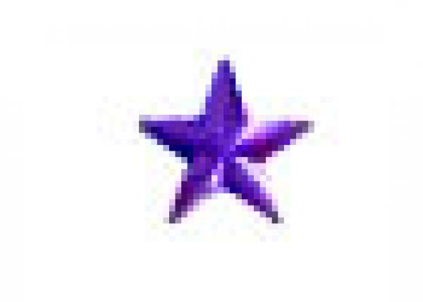 Star 10 mm Purple HotFix Nailheads