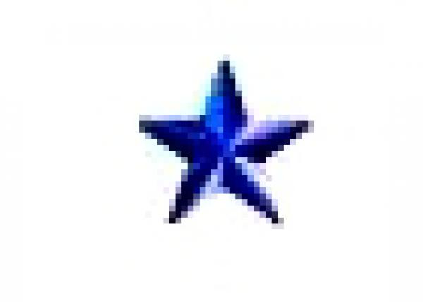 Star 13 mm Sapphire HotFix Nailheads