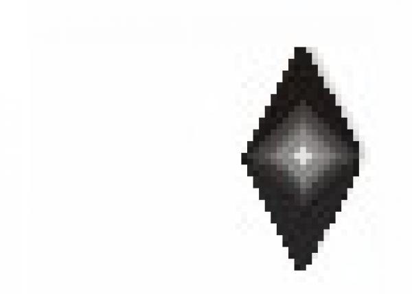Diamond 6x12mm Black HotFix Nailheads