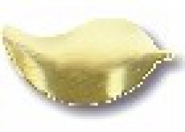 Leaf 6x10mm Matte Gold HotFix Nailheads