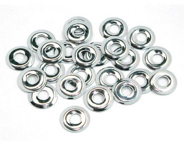 Donut  8 mm Silver HotFix Nailheads