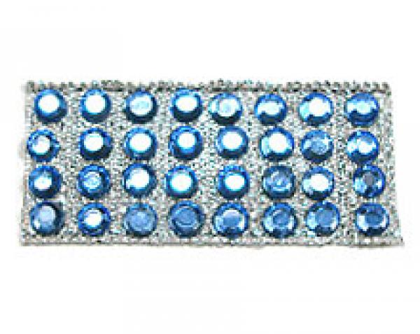 """Rhinestones by the Yard 3mm Sapphire/ 1/4"""" Silver Band"""