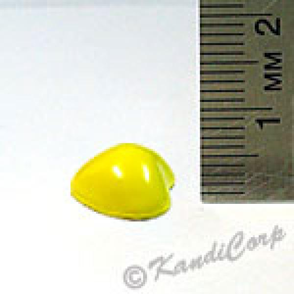 12x5.7mm Heart Screwback Spike - Lemon (Candy-Colored)