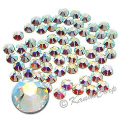 6mm 30ss  Crystal AB Swarovski 2038- Low Lead Swarovski HotFix Crystal