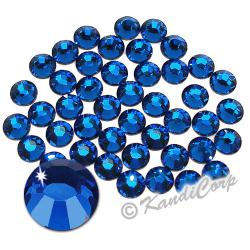 2mm 6ss Capri Blue Swarovski 2038 Low Lead Swarovski HotFix Crystals