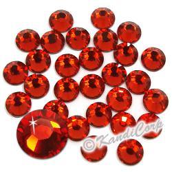 7mm Indian Siam Swarovski 2038- Low Lead Swarovski HotFix Crystals
