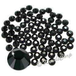 7mm 34ss Jet Black Swarovski 2038- Low Lead Swarovski HotFix Crystal