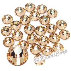 7mm 34ss Light Peach Swarovski 2038- Low Lead Swarovski HotFix Crystal