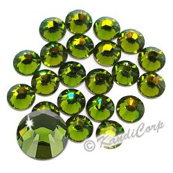7mm 34ss Olivine Swarovski 2038- Low Lead Swarovski HotFix Crystal