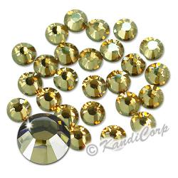 7mm 34ss Crystal Golden Shadow Swarovski 2038- Swarovski HotFix Crysta