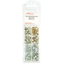 CrystalStyle Silver/Gold PearlStud Assortment Pack