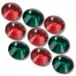 3mm 10ss Holiday Mix CraftSafe HotFix Crystals
