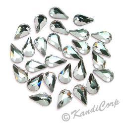 8mmx4.8mm Crystal Teardrop LowLead Swarovski HotFix Crystals