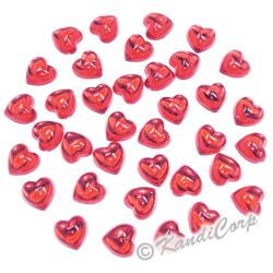 10mm Heart Coral FlatBack