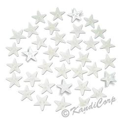 13mm Stars Mother of Pearl Sew-On