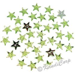 13mm Stars Peridot Sew-On
