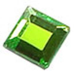 4mm  Peridot Crystalina HotFix Crystal Squares