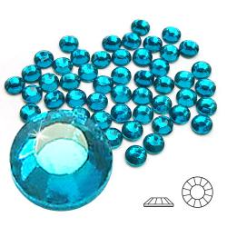 2mm 6ss Blue Zircon CraftSafe HotFix Crystals