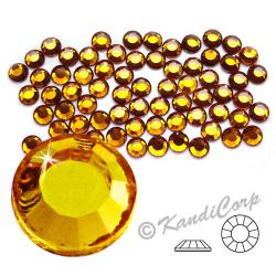 3mm 10ss Topaz CraftSafe HotFix Crystals