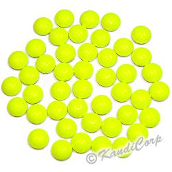 4mm Neon Bright Yellow Round Nailheads