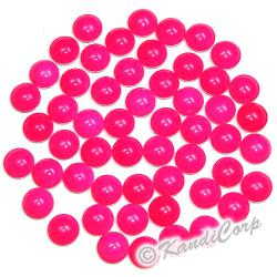 4mm Neon Bright Pink Round Nailheads