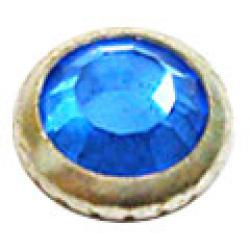 4mm Sapphire/Silver Ring Swarovski Ringed Rose