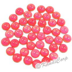 3mm Watermelon Flourescent HotFix Pearls