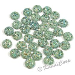 4mm Light Blue Glitter HotFix Pearlstuds