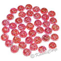 4mm Fuchsia Glitter HotFix Pearlstuds