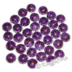 4mm Purple/Black Marble Texture HotFix PearlStuds