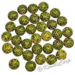 6mm Olivine/Yellow Marble Texture HotFix PearlStud