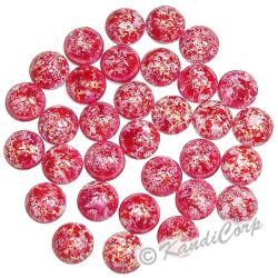 6mm Fuchsia/White Bold Marble HotFix PearlStuds