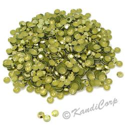 Round 3mm 10ss Lime HotFix Octagon Faceted RhineStuds