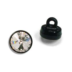6mm (29ss) Swarovski #1770 Crystal Button - Black Plastic Shank
