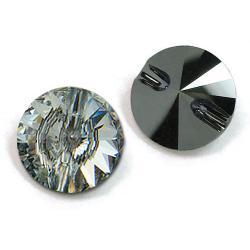 12mm Swarovski #3015 Rivoli Round Button ~  Crystal