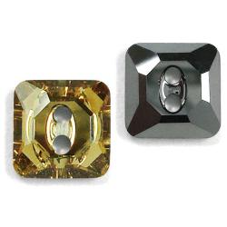 12mm Swarovski #3017 Square Button ~ Light Colorado Topaz